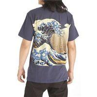 白波和柄シャツ4