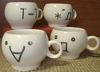 顔文字くんマグカップ