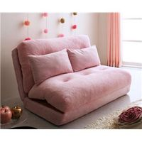 かわいいピンク色のソファベッド