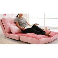 かわいいピンク色のソファ