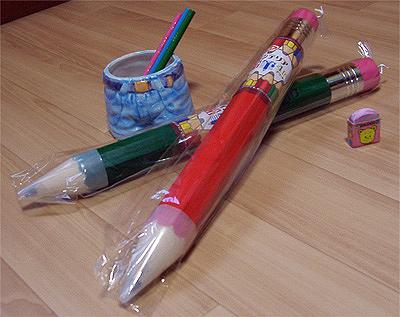 でっかくなっちゃった鉛筆。